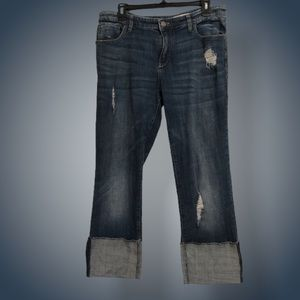 Anthropologie wide cuff jeans size 30